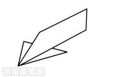 纸飞机简笔画图片大全 画法