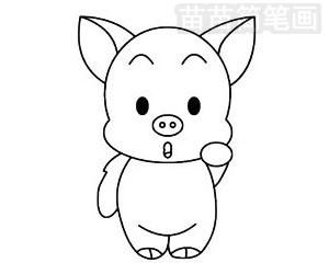 小猪简笔画图片大全 画法
