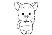 小猪简笔画图片大全、画法