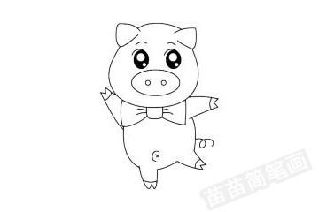 小猪简笔画图片大全,画法