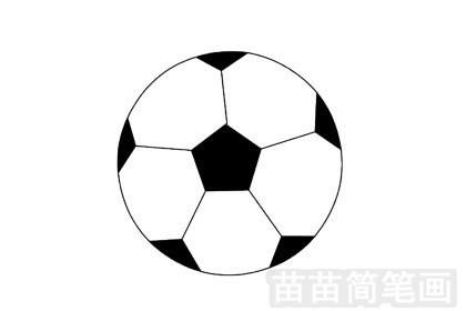 足球简笔画图片大全作品一