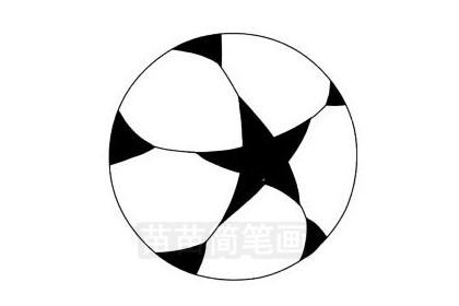 足球简笔画图片大全作品三