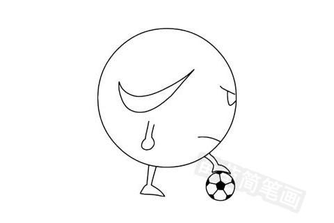足球简笔画图片大全作品五