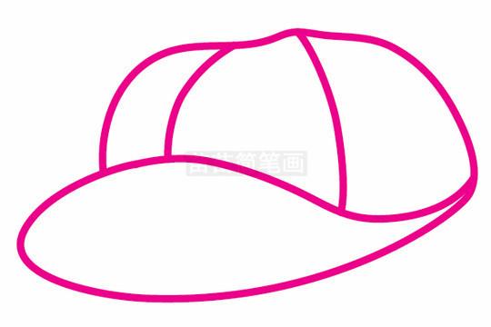 棒球帽简笔画图片步骤二