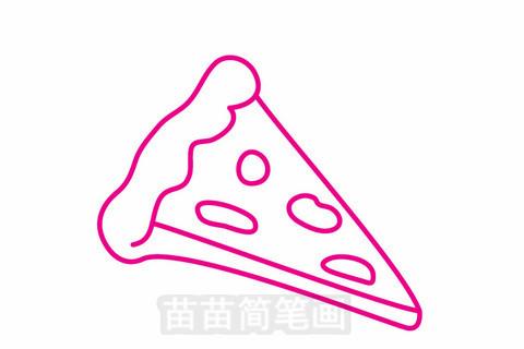 比萨简笔画大图