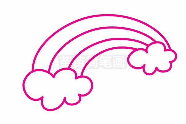 彩虹简笔画图片步骤二