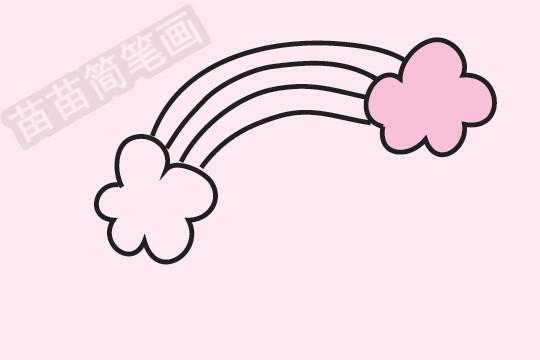 彩虹简笔画图片大全 画法