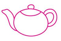 茶壶简笔画图片大全、教程