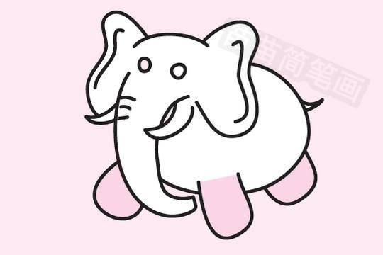 大象简笔画图片大全 教程