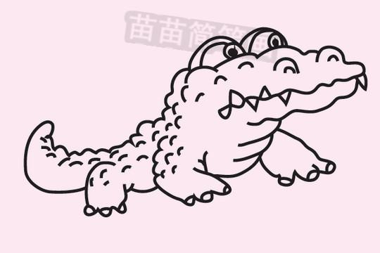 简笔画 动物简笔画 野生动物简笔画 >> 正文内容   鳄鱼小知识:淡水鳄