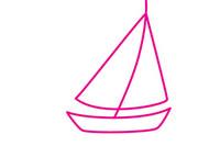 帆船简笔画图片大全、教程