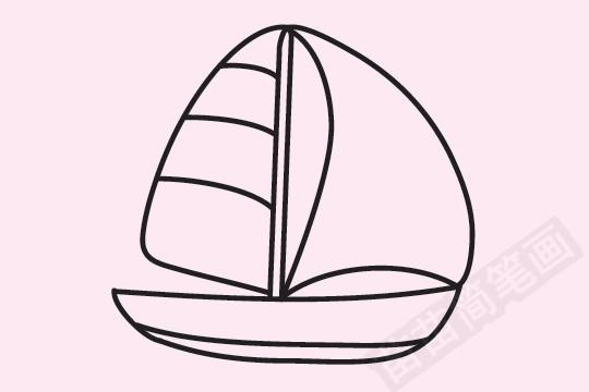 帆船简笔画图片大全作品一