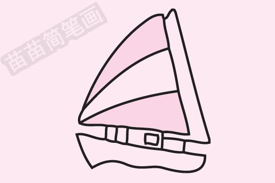 帆船简笔画图片大全作品四