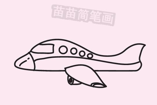 飞机简笔画图片大全 画法