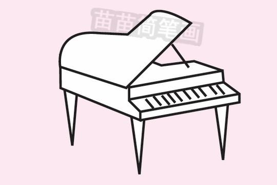 钢琴简笔画图片大全作品三