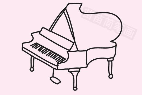 钢琴简笔画图片大全作品五