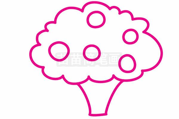果树简笔画图片步骤三