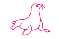 海豹简笔画图片大全、教程