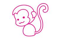 猴子简笔画图片大全、教程