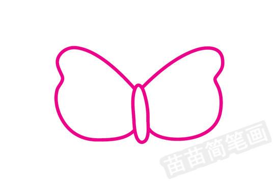 蝴蝶简笔画图片步骤一