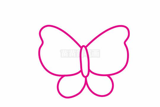 蝴蝶简笔画图片步骤二