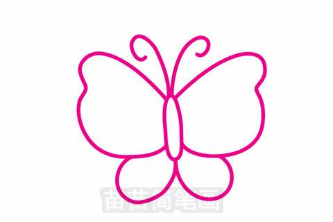 蝴蝶简笔画大图