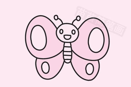 蝴蝶简笔画图片大全作品五