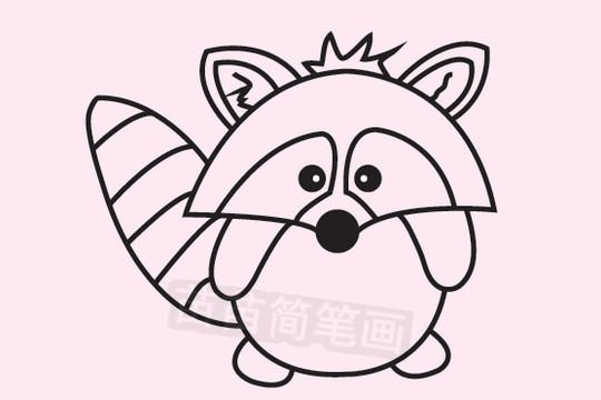 浣熊简笔画图片大全 教程
