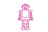 机器人简笔画图片大全、画法