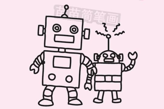 机器人简笔画图片大全 画法