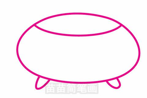 金鱼缸简笔画大图
