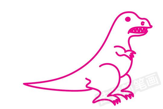 恐龙简笔画图片大全 教程