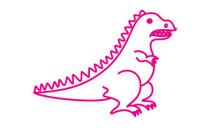 恐龙简笔画图片大全、教程