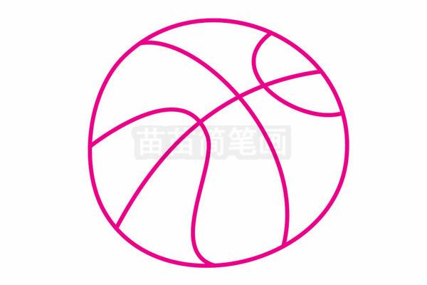 篮球简笔画图片步骤二