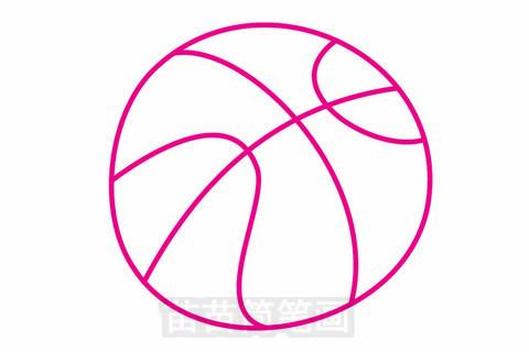 篮球简笔画大图