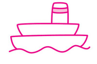 轮船简笔画图片大全、教程