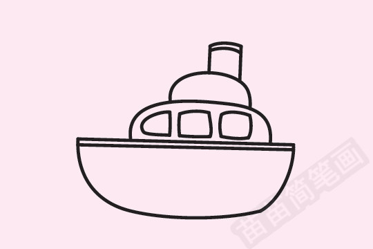 轮船简笔画图片大全作品一