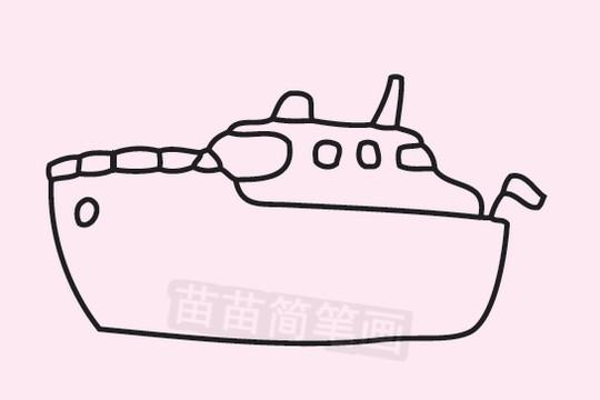 轮船简笔画图片大全作品二