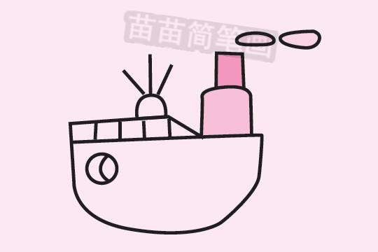 轮船简笔画图片大全作品三