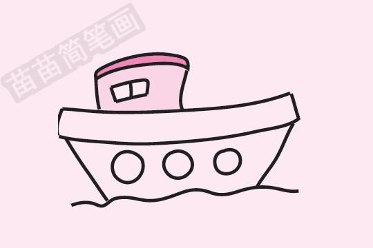 轮船简笔画图片大全作品四