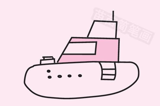 轮船简笔画图片大全作品五