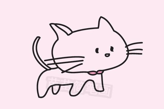 小猫咪简笔画图片大全 教程