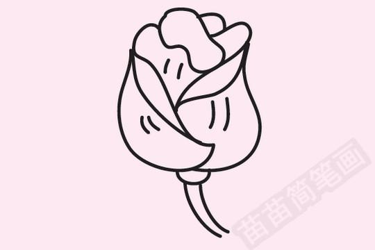 玫瑰简笔画图片大全作品一