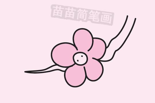 梅花简笔画图片大全作品三