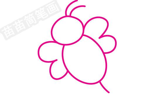 蜜蜂简笔画图片步骤三