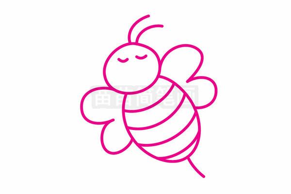 蜜蜂简笔画图片步骤五