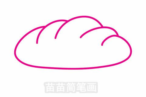 面包简笔画大图