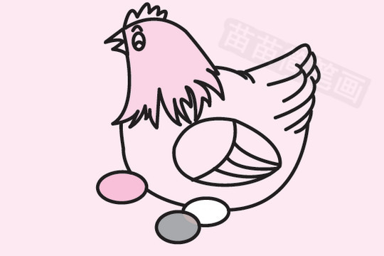 母鸡简笔画图片大全 教程