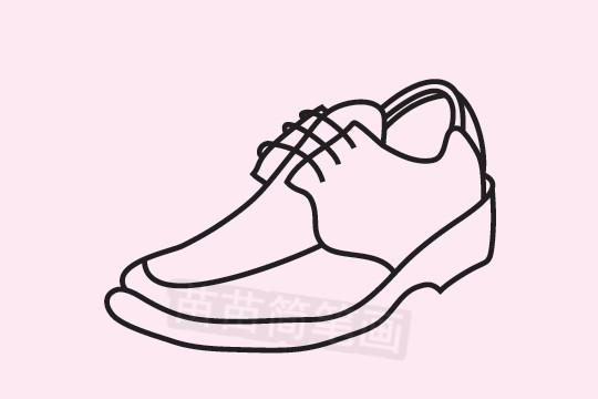 皮鞋简笔画图片大全 教程