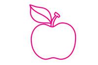 苹果简笔画图片大全、教程